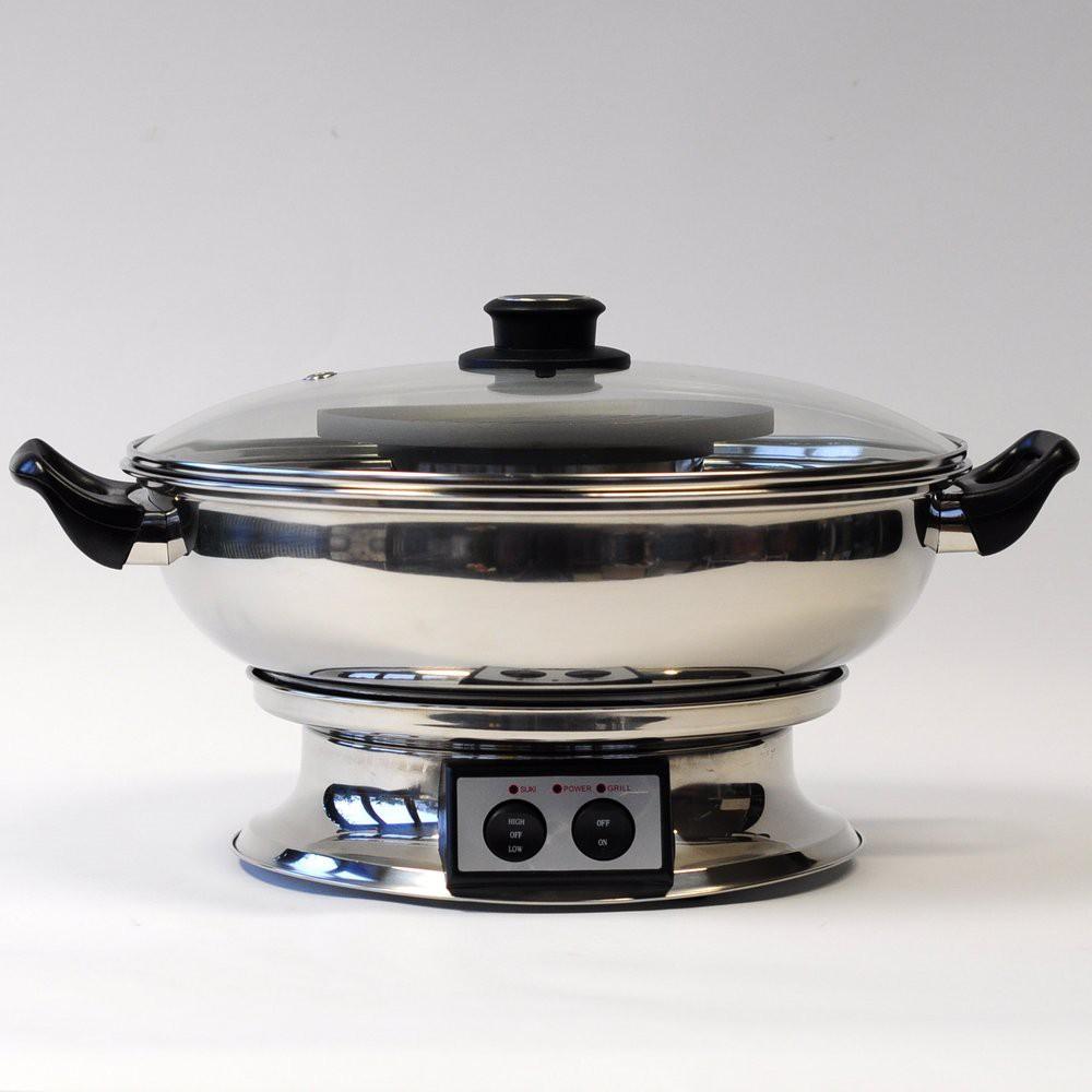 elektrogrill thaigrill tischgrill bbq hotpot 33cm. Black Bedroom Furniture Sets. Home Design Ideas