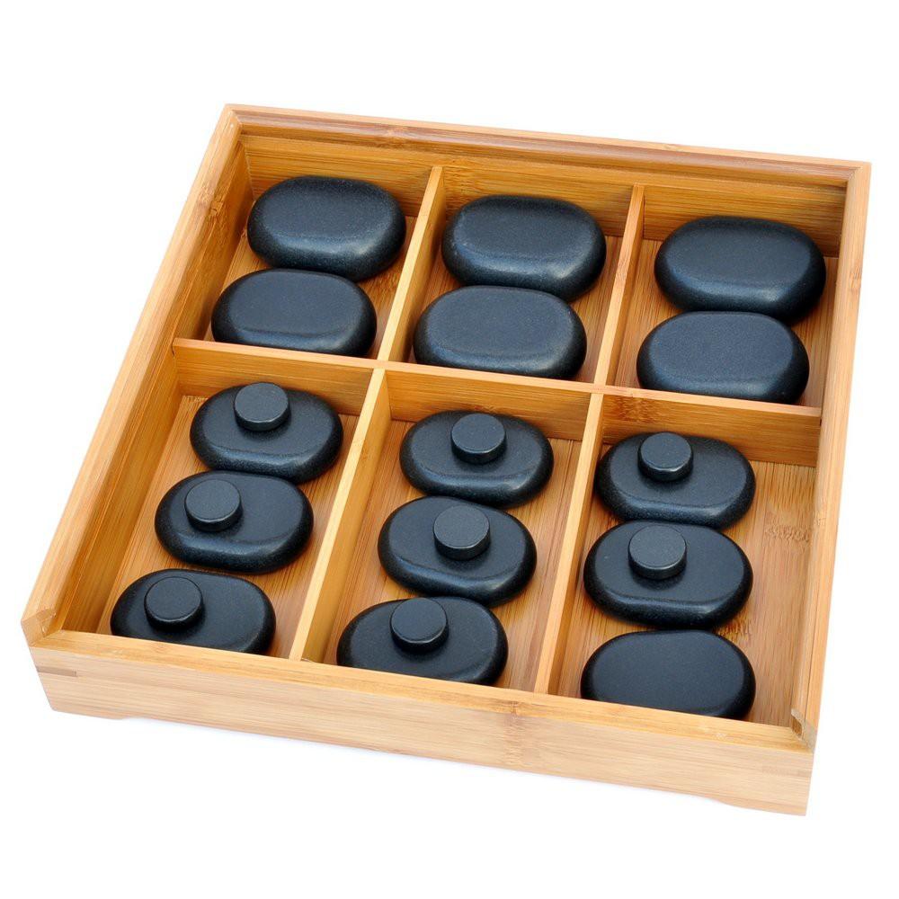 Hotstone Set 23 Steine in Bambus Box