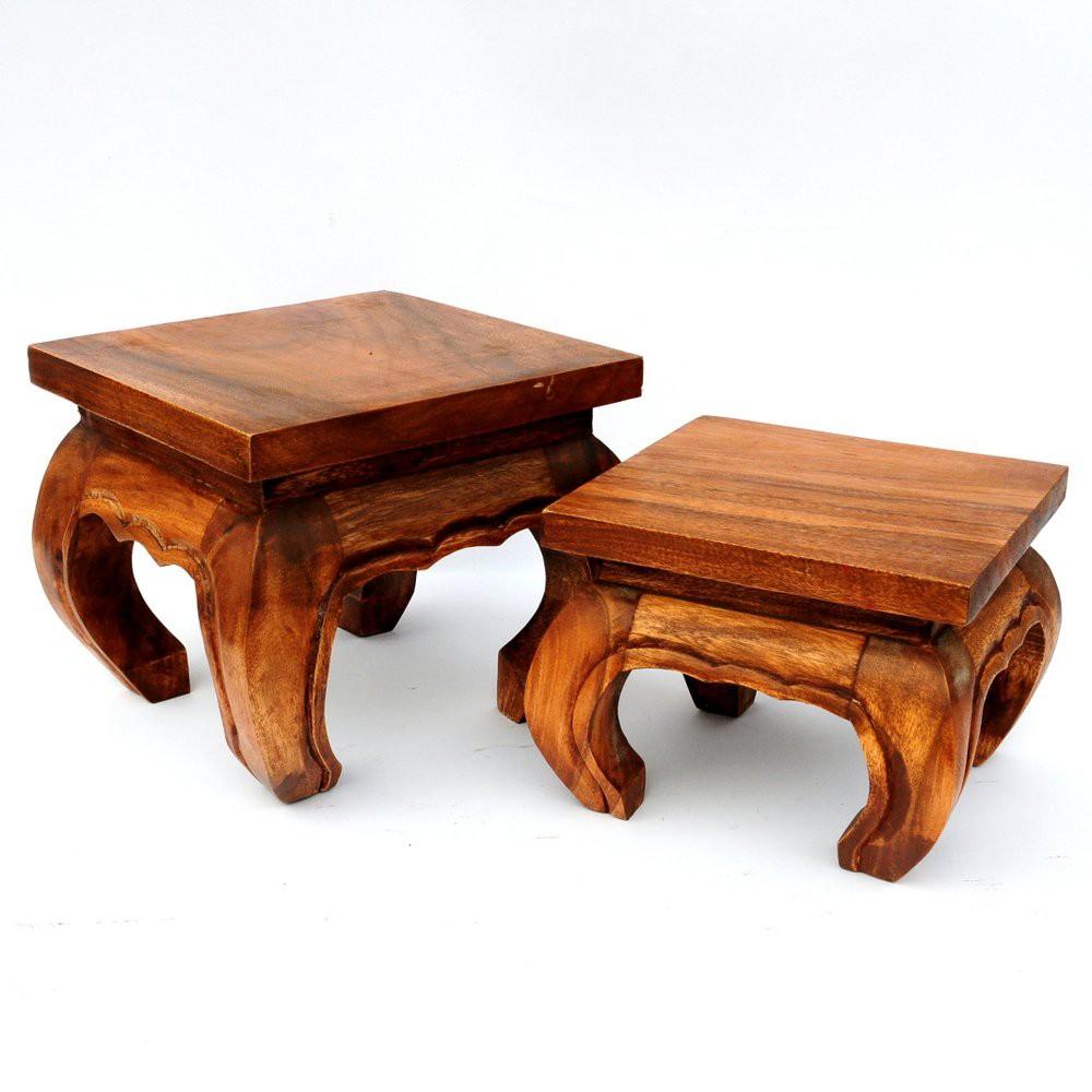 opiumtisch massivholz 35cm. Black Bedroom Furniture Sets. Home Design Ideas