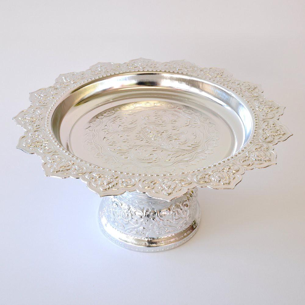 Schale Thaischale Aluminium Tischkultur Line Thai silber 30cm