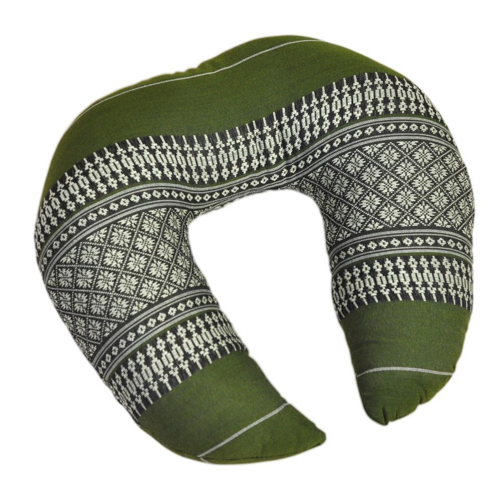 thaikissen nackenkissen kissen h rnchen bl ten gr n. Black Bedroom Furniture Sets. Home Design Ideas