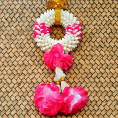 Flowers artificial flowers wreath Puang Malai pink pink...