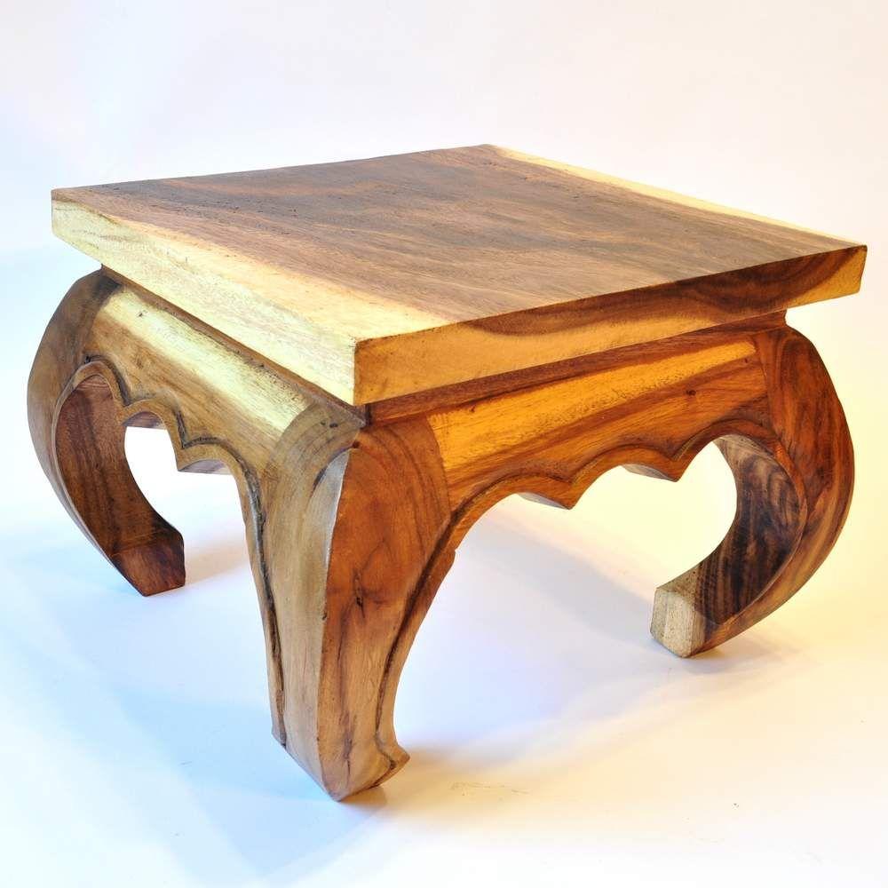 Opiumtisch massivholz 35cm akazie thai tisch for Tisch billig