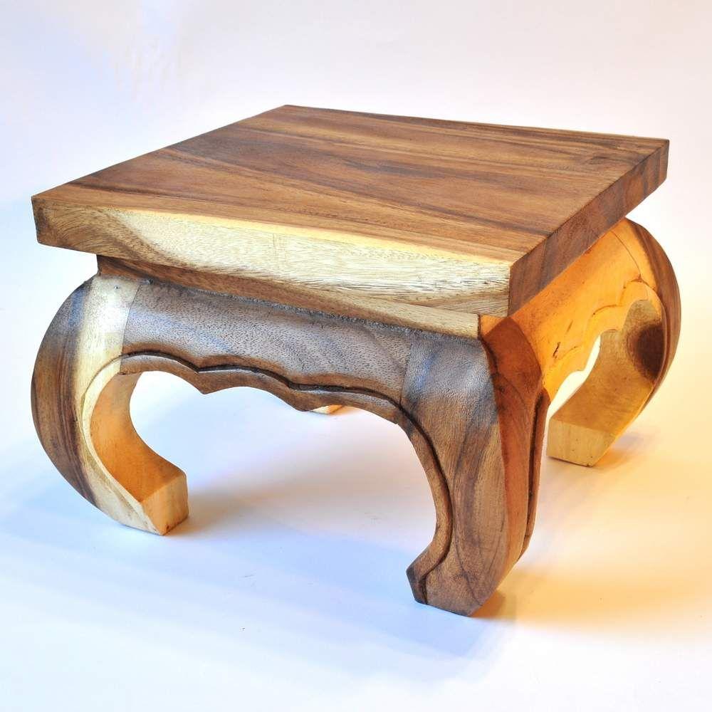 opiumtisch massivholz 30cm akazie. Black Bedroom Furniture Sets. Home Design Ideas