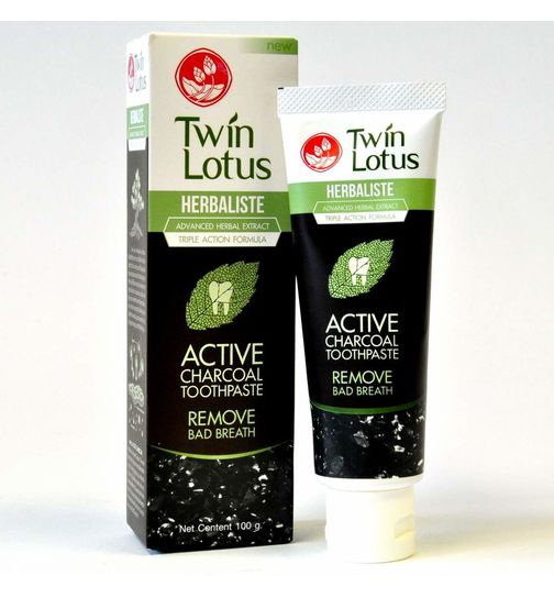 Twin Lotus ACTIVE CHARCOAL Zahnpasta ohne Fluorid 100g