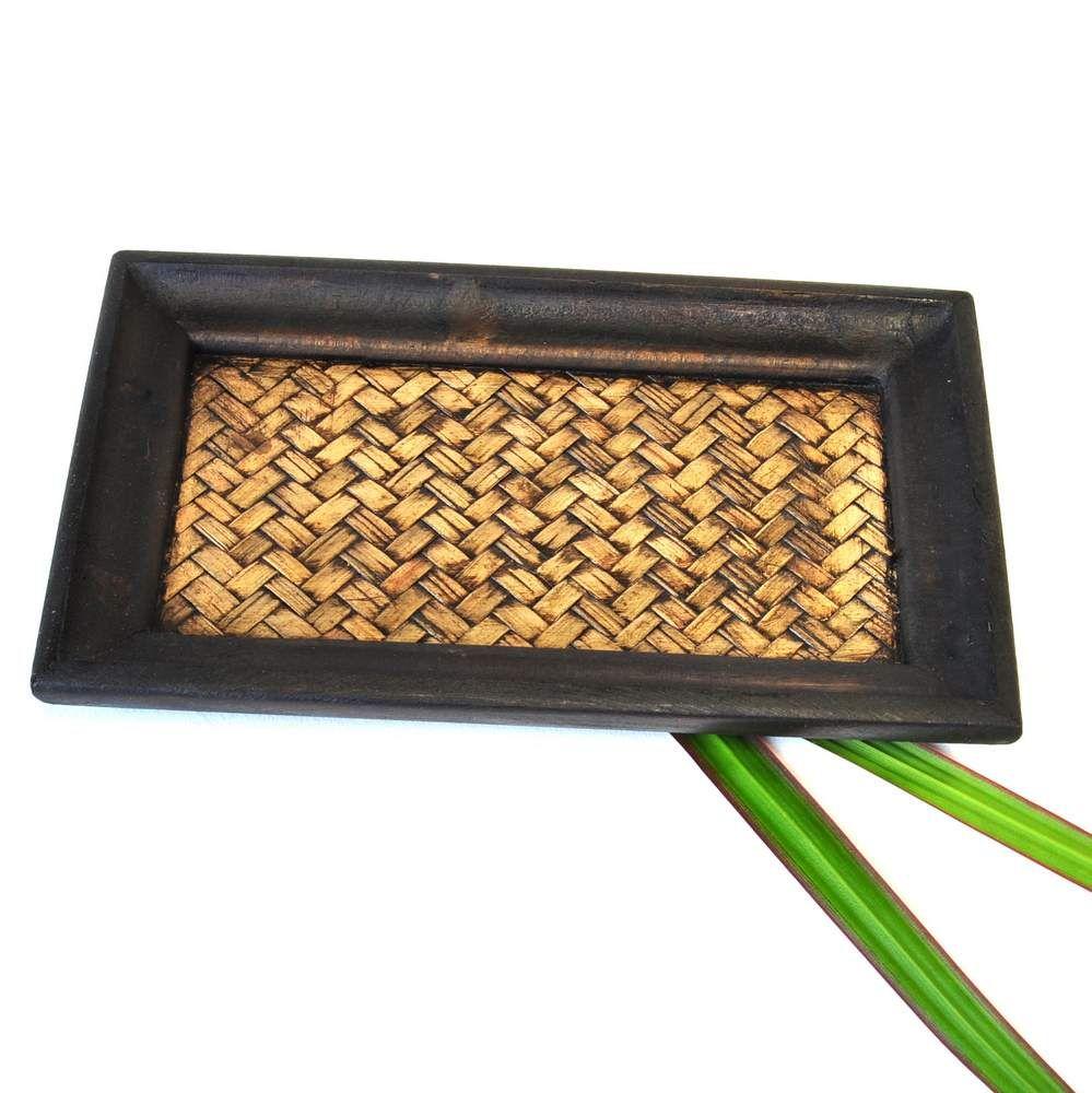 tablett aus holz dunkel klein 20x12x2cm. Black Bedroom Furniture Sets. Home Design Ideas