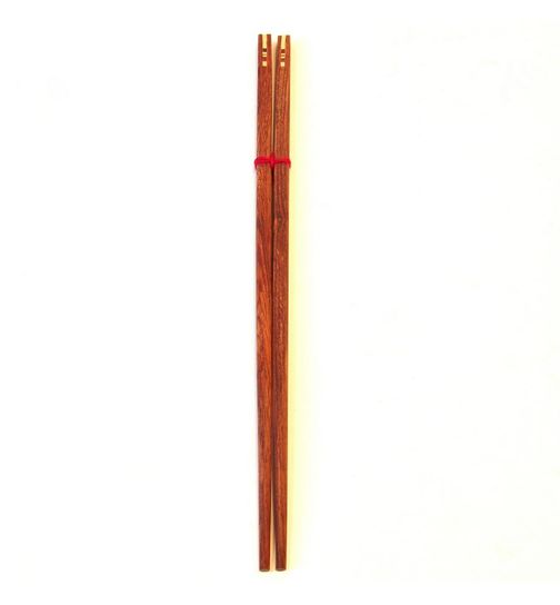 Chopsticks made of natural wood bicolored