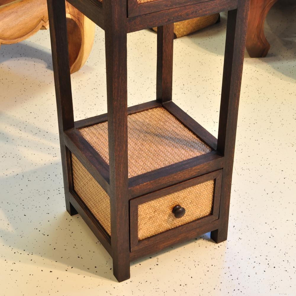 kommode schrank beistelltisch bambus holz 35x35x85cm. Black Bedroom Furniture Sets. Home Design Ideas
