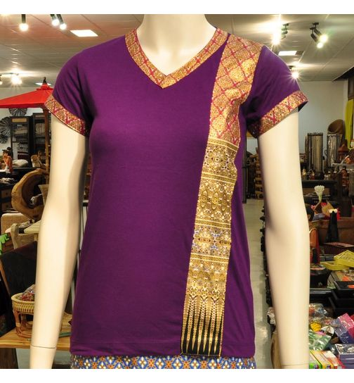 T-shirt massage clothing thai shirt ladies
