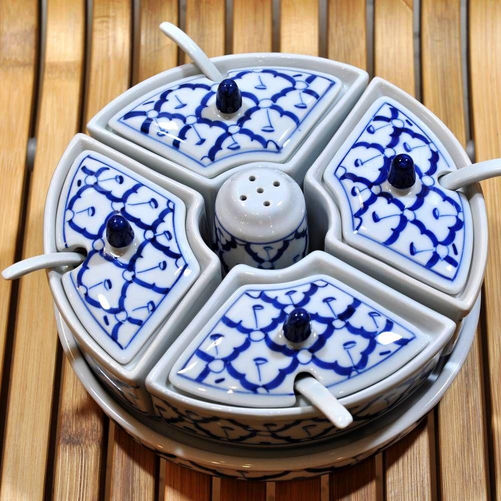 thail ndisches keramik saucen set 19 5x19 5x9cm g nstig. Black Bedroom Furniture Sets. Home Design Ideas