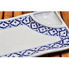 Thai ceramic Plate curved with dip bowl 12x22,7x2,5cm