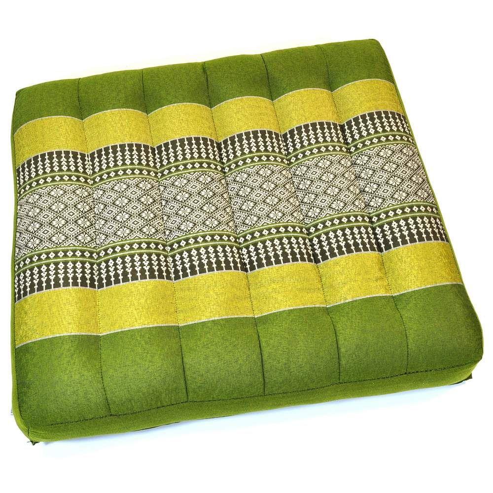 kissen thai sitzkissen bl ten hellgr n 36x36cm g nstig. Black Bedroom Furniture Sets. Home Design Ideas
