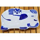 Thai ceramic Bowl Elephant for sauce and spices 17,5x12x2,5cm