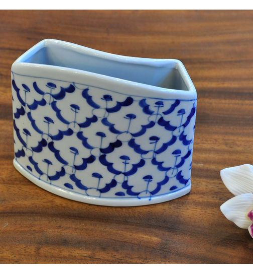 Thai ceramic holder for napkins and toothpicks 7,5x11,5x10,5cm