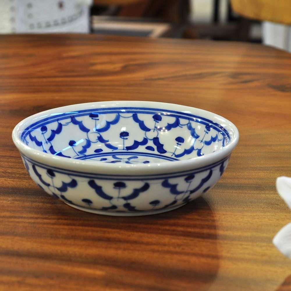 thail ndische keramik salat schale 14x4 5cm g nstig. Black Bedroom Furniture Sets. Home Design Ideas