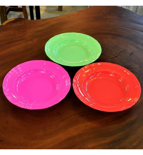 SuperSOSO! melamine plate deep neon several colours