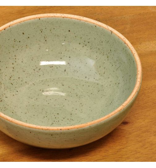 Small Ceramic Sauce Bowl from Thailand 13 cm Green