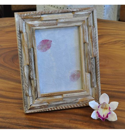 Real Wood Picture Frame Shabby Chic 26x21cm buy cheap