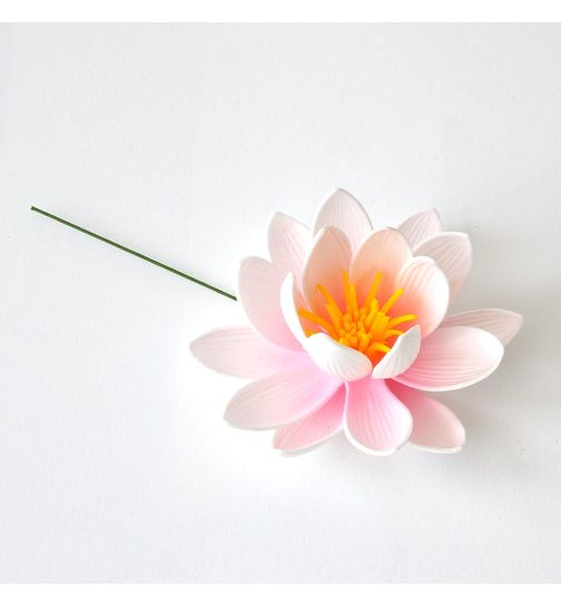 Water lily Lotus artificial flower white 8cm