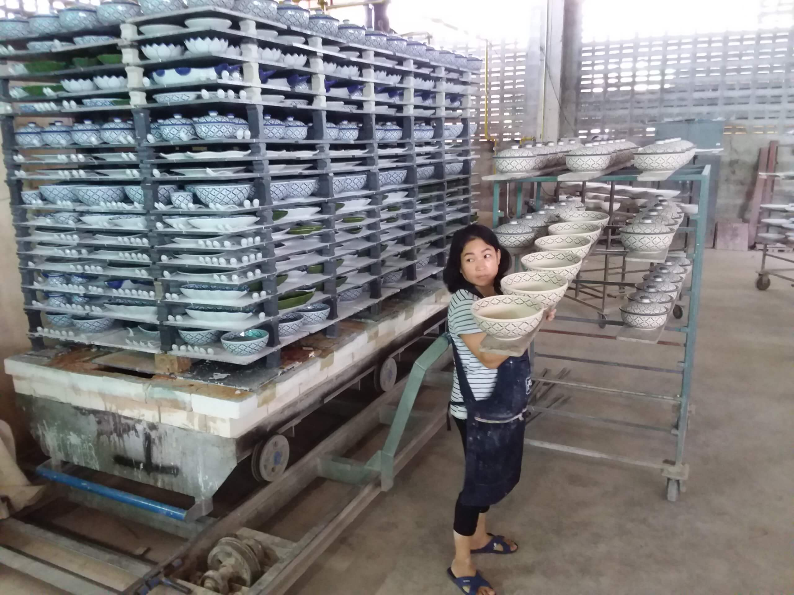 Keramik Manufaktur Thailand, Fertigung Geschirr Servierkeramik